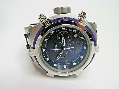 Invicta Bolt Zeus Hybrid Chronograph Watch Black Purple 52mm 22445