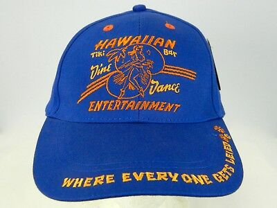 David & Goliath Baseball Hat Hawaiian Entertainment Tiki Bar Everyone Gets Leied