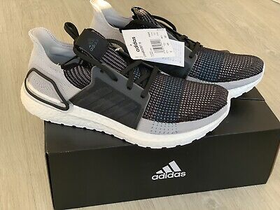 Adidas Ultra Boost 19 Size U.K. 11.5 Rrp £160 Black White Blue BRAND NEW BOXED