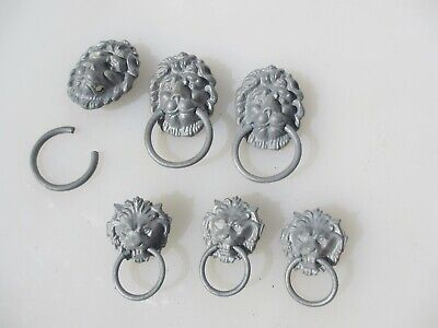 Metal Lion Chest Pull Drawer Handle Lions Loop Old Hardware Antique STYLE