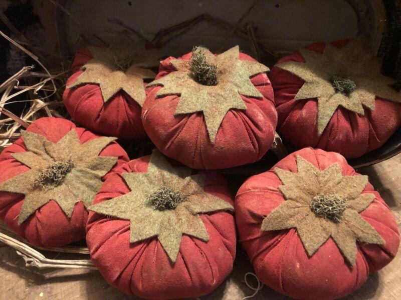 Faux Primitive Red Heirloom Tomatoes , Primitive  Vegetables, Bowl Fillers
