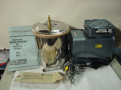 Gast 4752-00 Vacuum Pump Assembly Compressorvacuum Pump And Vacuum Chamber.