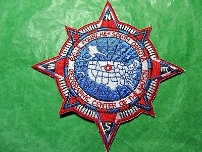 CENTER OF THE NATION BELLE FOURCHE S DAKOTA COMPASS POINT EMBROIDERED PATCH-P1