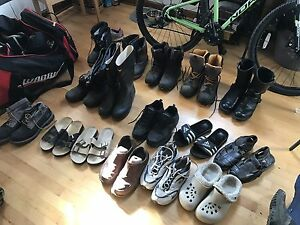 Size 14 and 13 men's boots, shoes, sandals