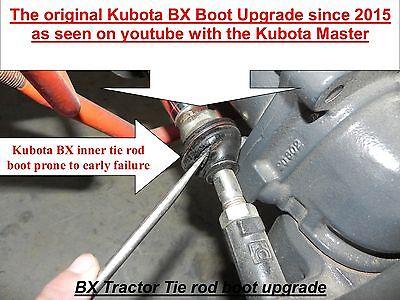 Kubota BX & GR Inner Tie Rod Boot Upgrade  (all BX models) Kubota # K1253-01660)