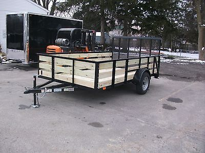 Brand New 82x12 27 Wooded High Side 3 Board Utility Trailer Tmt Toledo Built