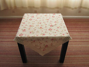 NEW-VINTAGE-STYLE-CREAM-TABLE-CLOTH-with-PINK-ROSES-CREAM-COTTON-LACE-TRIM