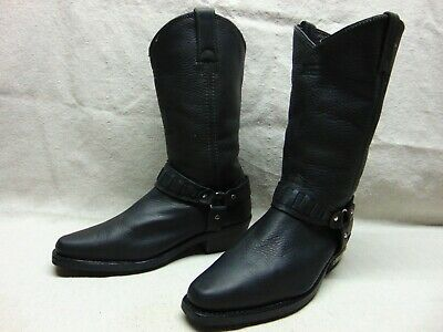 Xelement 1442 'Classic' Men's 10 M Black leather Harness Motorcycle Biker Boots