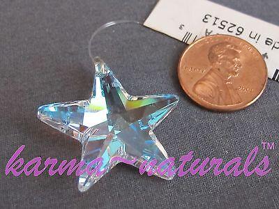 FACETED Iridescent CRYSTAL Prism 28 mm - Phoenix Star - Feng Shui Healing Reiki