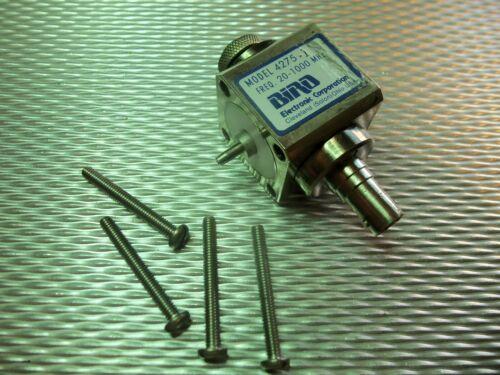 Bird 43 4275-100 Thruline WattMeter Variable RF Sampler 1,000W 20-1000MHz