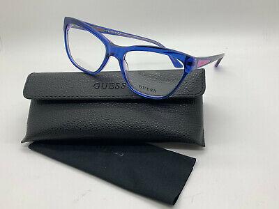 GUESS GU 2463 BLPUR glasses frame blue violet purple 55 17 (Guess Prescription Glasses)
