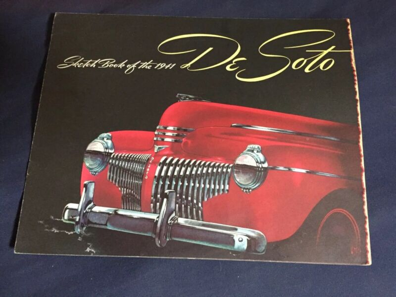 1941 DeSoto Custom and DeLuxe Original Brochure Catalog Prospekt