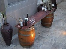WINE BARREL BAR FOR HIRE JARRAH SLAB 2.7M LENGTH FREE DELIVERY Perth CBD Perth City Preview