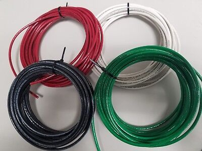 10 Gauge Thhn Wire Black Red White Green 25 Feet Ea Thwn-2 Copper Stranded