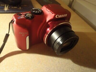 Canon PowerShot SX170 IS 16.0MP Digital Camera - Red. Used & un-boxed + charger