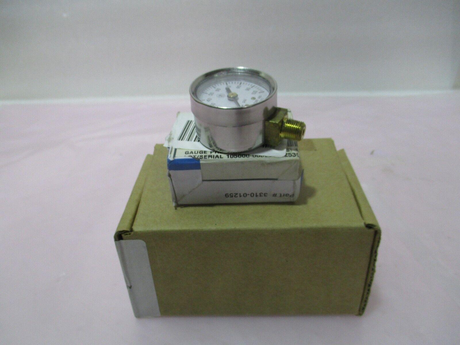 "AMAT 3310-01259 Gauge Press 1.5"" DIA 0-100PSI 1/8NPT BOTT, 421013"