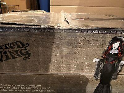 Gemmy Life- Size Animated Animatronic Halloween Black Widow Prop NEW RARE