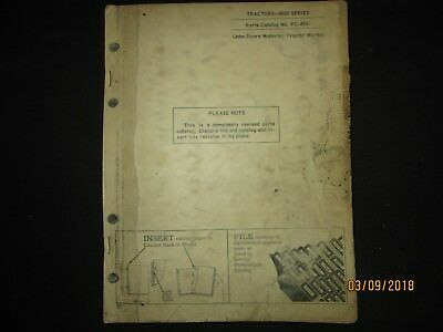 John Deere 4020 Tractor Parts Manual Catalog Book Factory Original 1964 Oem