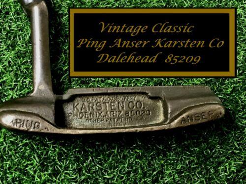 Vintage Ping KARSTEN CO Anser DALEHEAD Putter 85209 Circa 1968 SEE PIX!