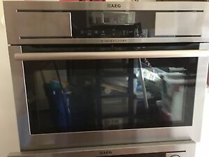 AEG Oven and microwave  combo  oven Witheren Ipswich South Preview