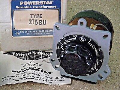 Superior Electric 216bu Powerstat Variable Transformer 240v 1 Phase 3.5a Nos