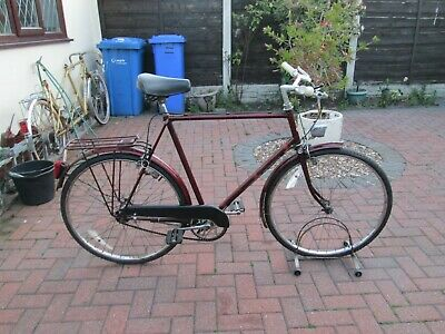 vintage raleigh courier all in good working order three speed and dynamo lights