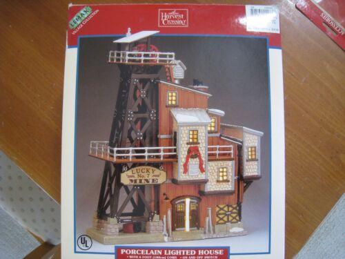 Lemax Village Collection Christmas  Porcelain Lighted House Lucky No. 7 Mine