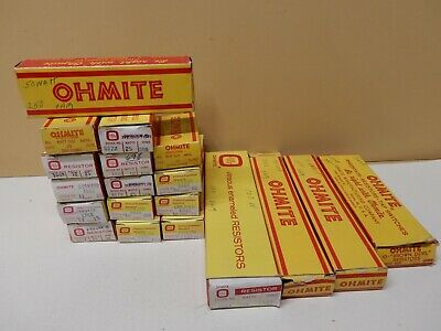 Ohmite Huge Lot Of Power Resistors Nos Various Resistance And Wattage Qty 19