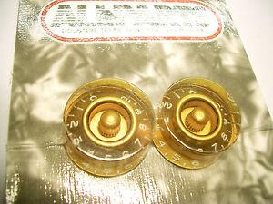 2-Allparts-Speed-Perillas-Botones-Poti-con-Grabado-gold