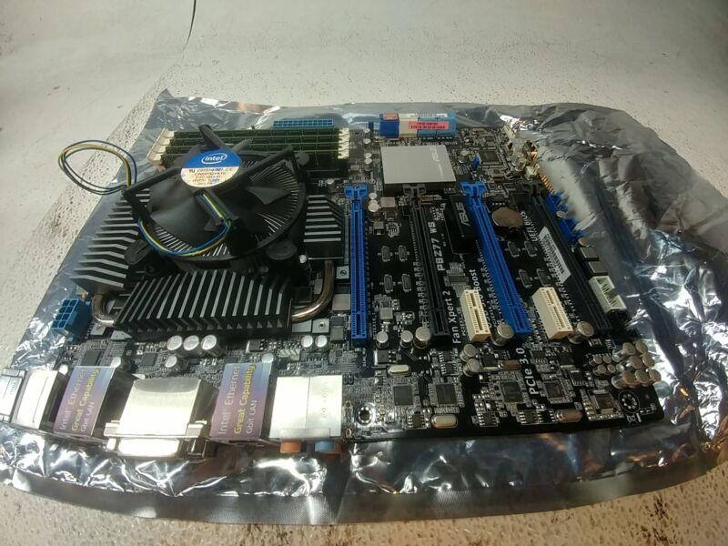 ASUS P8Z77 WS LGA 1155 Intel Z77 ATX Motherboard, Xeon E3-1220 CPU, 8GB ECC RAM