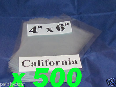 Lot Of 500 Pieces Heat Shrink Wrap Film Flat Bags 4x6 Candles Pvc 4 X 6