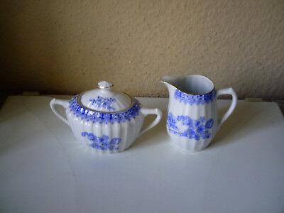 China Blau Bavaria Milch & Zuckerset, sehr selten Gebraucht , sehr gut