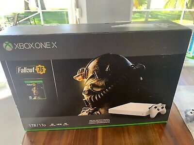 Xbox One X Robot White - Special Edition - 1tb Console Fallout 76 Bundle