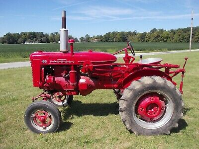 1956 Farmall 100 Ih Repainted Tractor 1pt Quick Hitch Drawbar Weights Runs Good