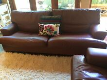 Lounge suite: Leather matching (2 x 3 seaters) Artifex Floreat Cambridge Area Preview
