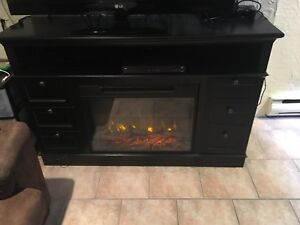 Electric fireplace and storage