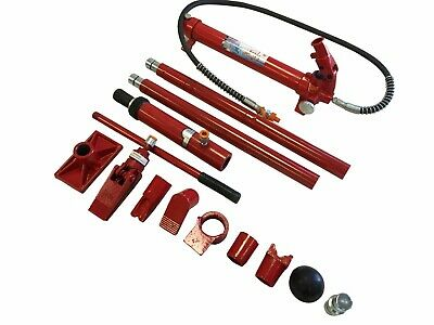 10 Ton Porta Power Hydraulic Jack Body Frame Repair Kit Auto Shop 2 Wheel Lift
