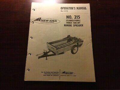 New Idea 215 Manure Spreader Operators Manual