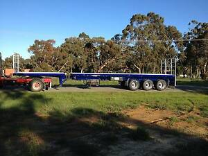 Used 2014 JCE 45' - 72' Tri Axle Flat Top Extendable Trailer Maddington Gosnells Area Preview