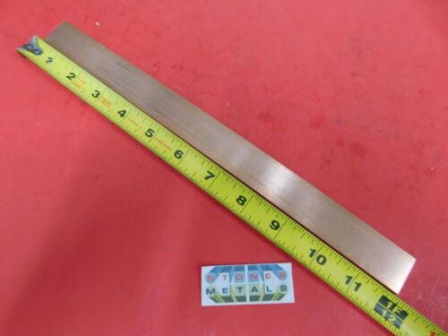 "1/8""x 1"" C110 COPPER BAR 12"" long Solid Flat Mill Bus Bar Stock H02 .125 x 1.00"
