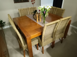 8 Seats + Dinning table + Hutch Casula Liverpool Area Preview