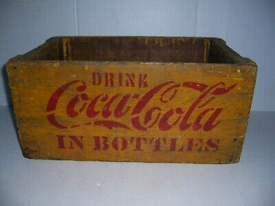 Vintage Coca Cola Hutchinson Hutch Bottle Wooden Crate Tote Carrier Enyart IN.