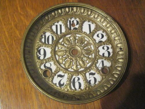Antique 1900s  Black Mantle Clock DIAL ASSEMBLY