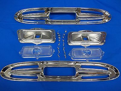 1961 Chevy Truck Hood Parking Light Turn Signal Assembly CHROME Polished