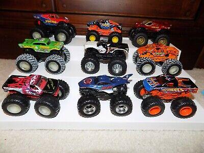 Hot Wheels Monster Jam Trucks, Group of 9 1:64