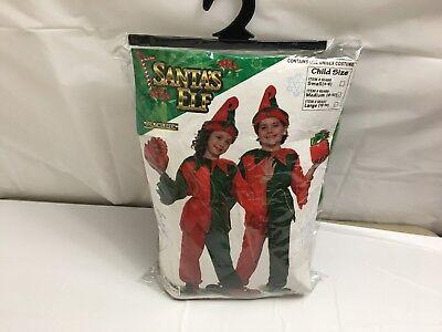 UNISEX CHILDREN'S ELF COSTUME SANTA'S HELPER CHRISTMAS 6 PC SET MEDIUM 8-10