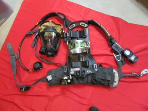 MSA 4500 SCBA HARNESS MASK HUDS AIR PAK DESCENDER CROSBY HOOK FIRE FIREFIGHTER