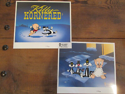 Kitty Kornered Diptych Bob Clampett NEW Hand Painted LE 500 Cel Se, SIGNED CERT
