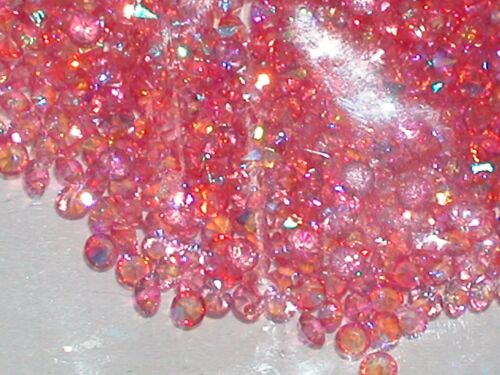 30pc Floating tiny little Rainbow Crystals rhinestone gem for bottle 3mm AB PINK