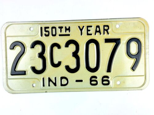 Indiana 1966 Vintage License Plate Man Cave Gift Garage Classic Muscle Car Tag